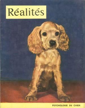 """""""Psychologie du chien"""" (photo Camera Clix) - Réalités n°60, janvier 1951."""