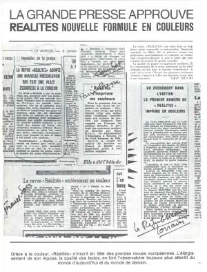 Les avis de la presse après la publication du nouveau format de Réalités
