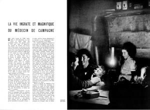 Extrait de reportage sur la vie d'un médecin de campagne - Réalités n°60, janvier 1951.