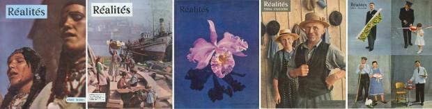 Aperçu des différentes couvertures de Réalités